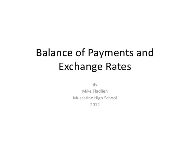 exchange rate and balance of payments Take a brief look at the relationship between a nation's balance of payments and the exchange rate value of its currency in the forex markets.