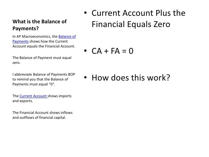 balance of payments 2 essay Economics writer j orlin grabbe warns the term balance of payments can be a.