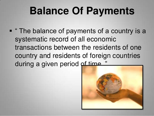 exchange rate and balance of payments From the us point of view, the exchange rate is  suppose the us has a  negative balance on goods and services (ie it imports more than it exports), and  the.