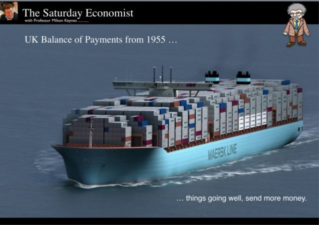 """UK Balance of Payments from 1951 to 2014 """"things going well, send more money."""