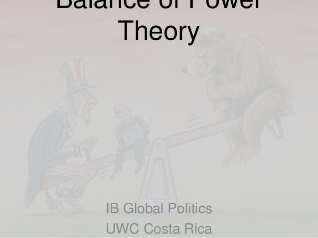 Balance of Power Theory IB Global Politics UWC Costa Rica