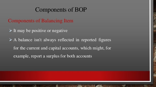 BOPvs. BOT BOP BOT 1. It is a narrow term. 2. It includes only visible items. 3. It can be favorable or unfavorable. 4. BO...