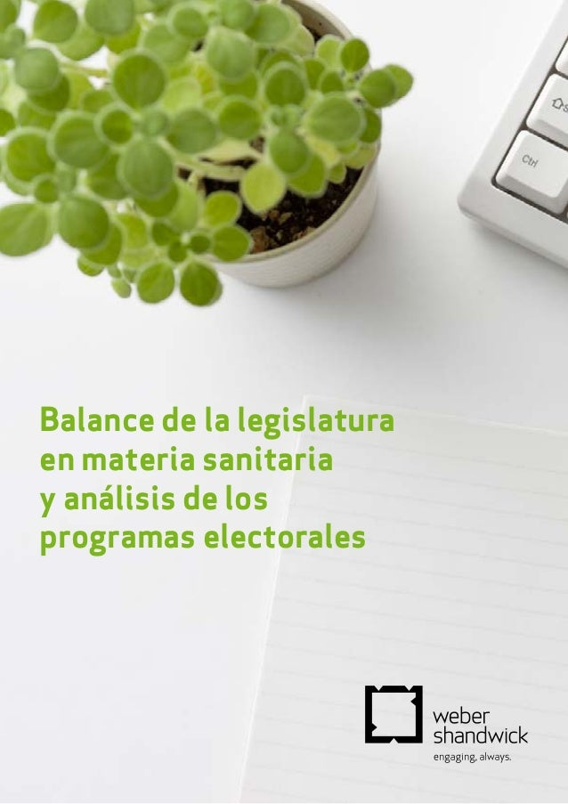 Balance de la legislatura en materia sanitaria y análisis de los programas electorales