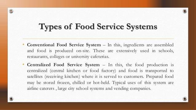 Balance Sheet And Food Service