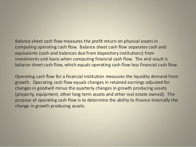 Balance Sheet Cash Flow: A Guide to Liquidity
