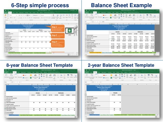 simple balance sheet template by ex deloitte consultants