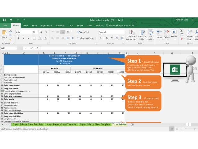 balance sheet template 3