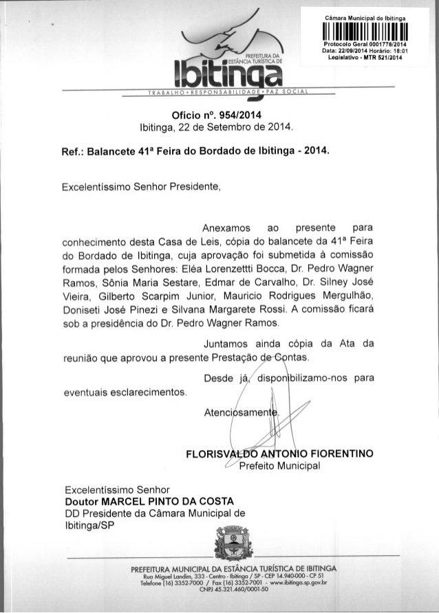 PREFEITURA DA inESTANCoA TUR SaT CA DE Câmara Municipal de Ibitinga 11111111111111 11111111111P otocolo Geral 0001778/2014...