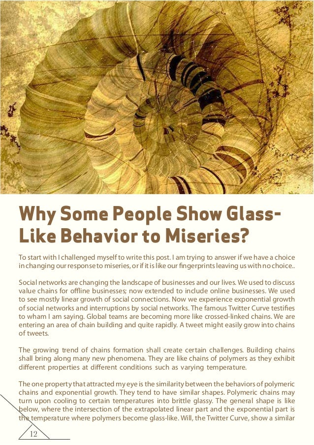 12 Why Some People Show Glass- Like Behavior to Miseries? To start with I challenged myself to write this post. I am tryin...