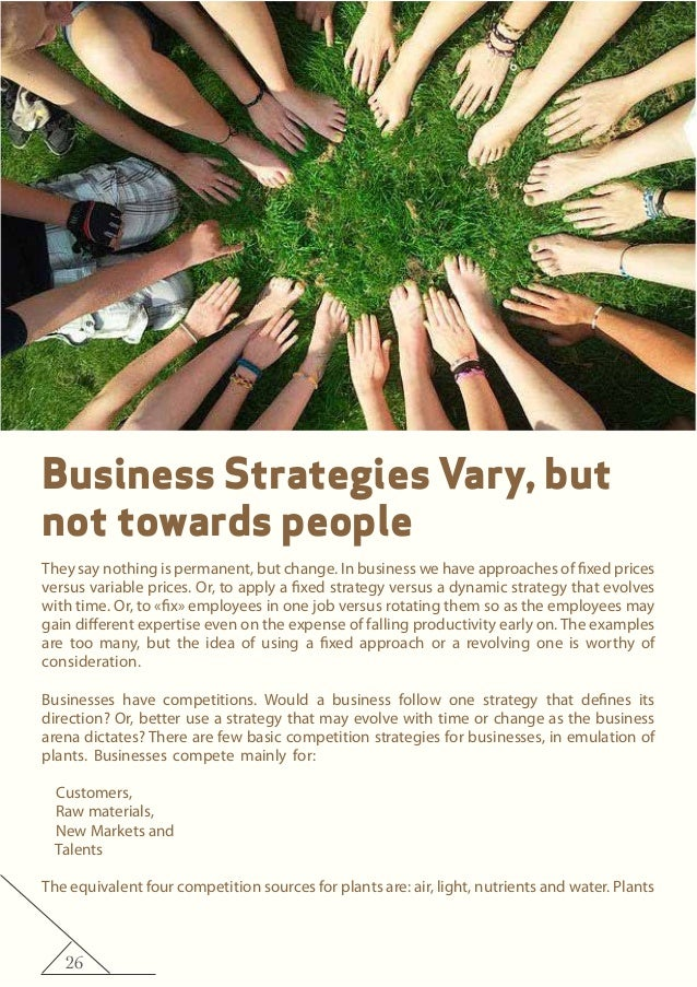26 Business Strategies Vary, but not towards people They say nothing is permanent, but change. In business we have approac...