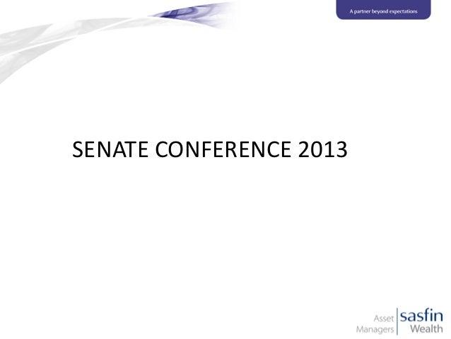 SENATE CONFERENCE 2013