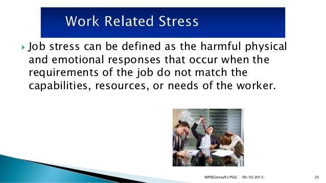 job stress a health and