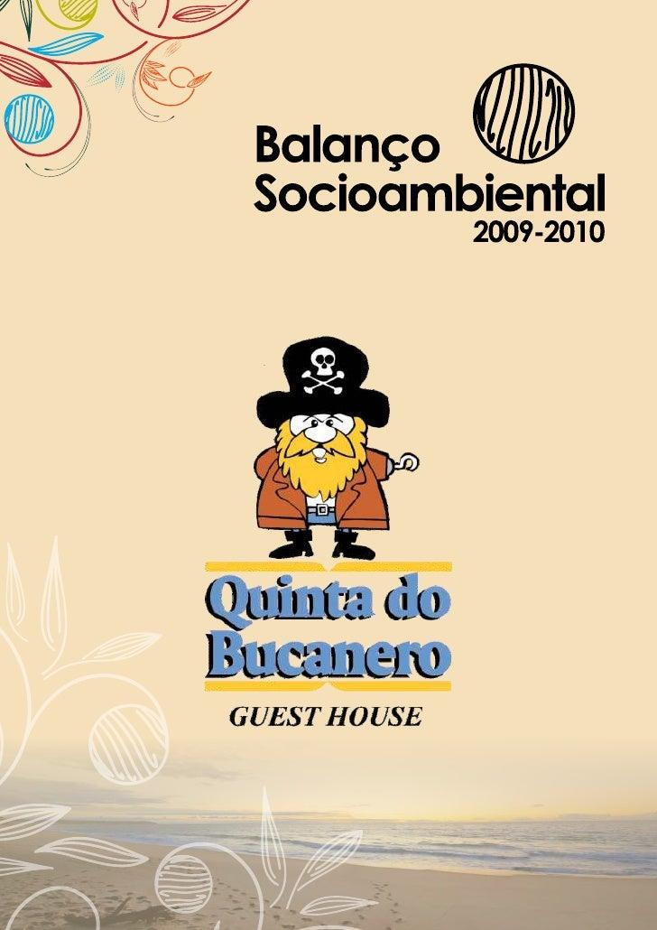 Relatório de sustentabilidade 2009 2010 - hotel quinta do bucaneiro, Praia do Rosa, Santa Catarina