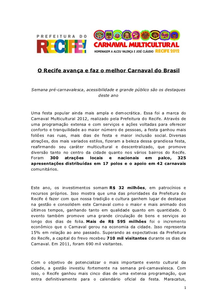 Balanço carnaval multicultural recife 2012