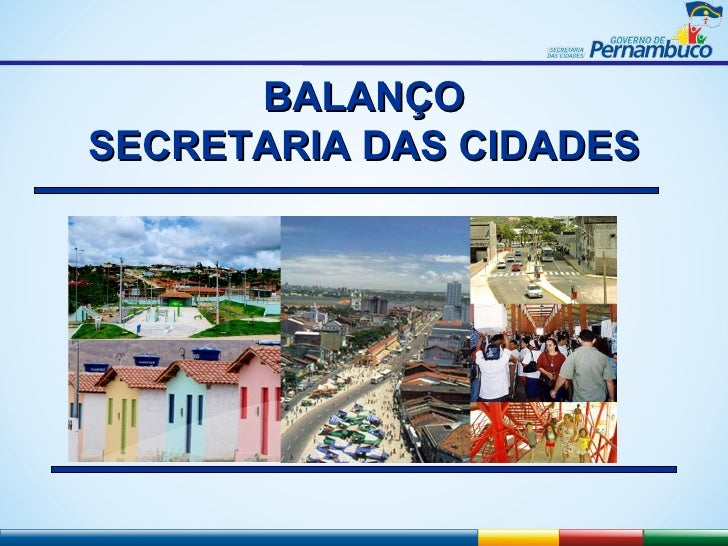 BALANÇOSECRETARIA DAS CIDADES
