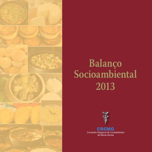 Balanço Socioambiental 2013 CRCMG Conselho Regional de Contabilidade de Minas Gerais