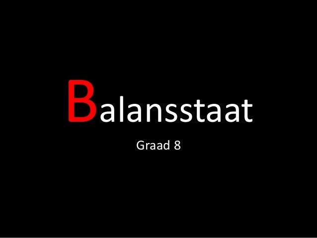 Balansstaat Graad 8