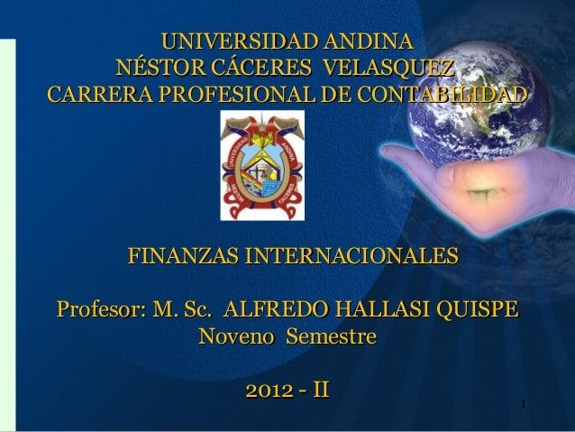 UNIVERSIDAD ANDINAUNIVERSIDAD ANDINA NÉSTOR CÁCERES VELASQUEZNÉSTOR CÁCERES VELASQUEZ CARRERA PROFESIONAL DE CONTABILIDADC...