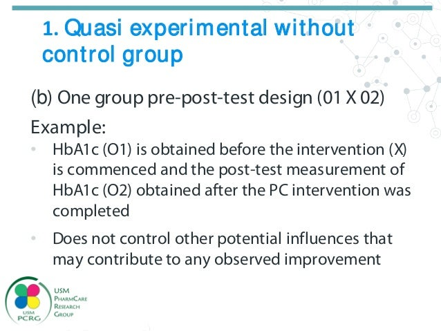 quasi experimental design in intervention pharmacy practice research