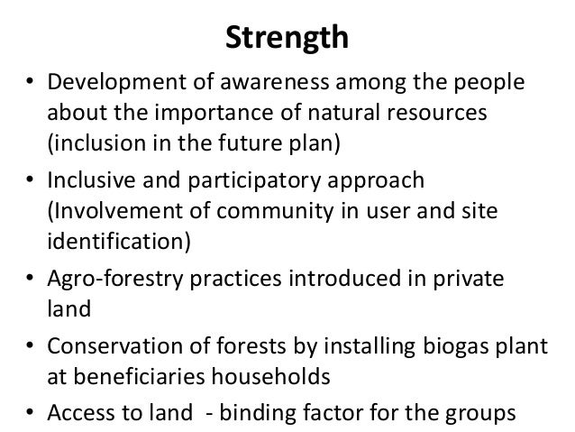 essay on sustainable use of natural resources Chapter 5 conclusion  the creation of an incentive system able to guide private entrepreneurs towards a more sustainable use of natural resources, the design of.