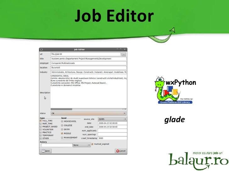 Job Editor glade