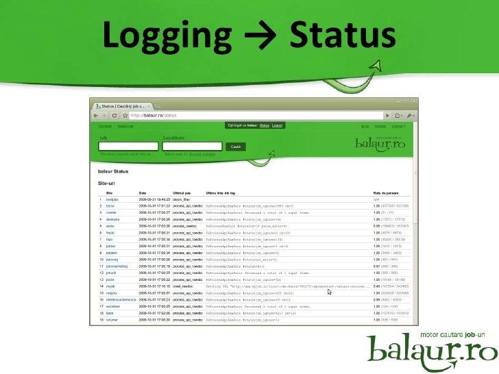 Logging -> Status