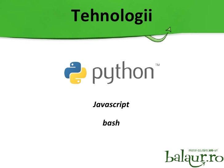 Tehnologii Javascript bash