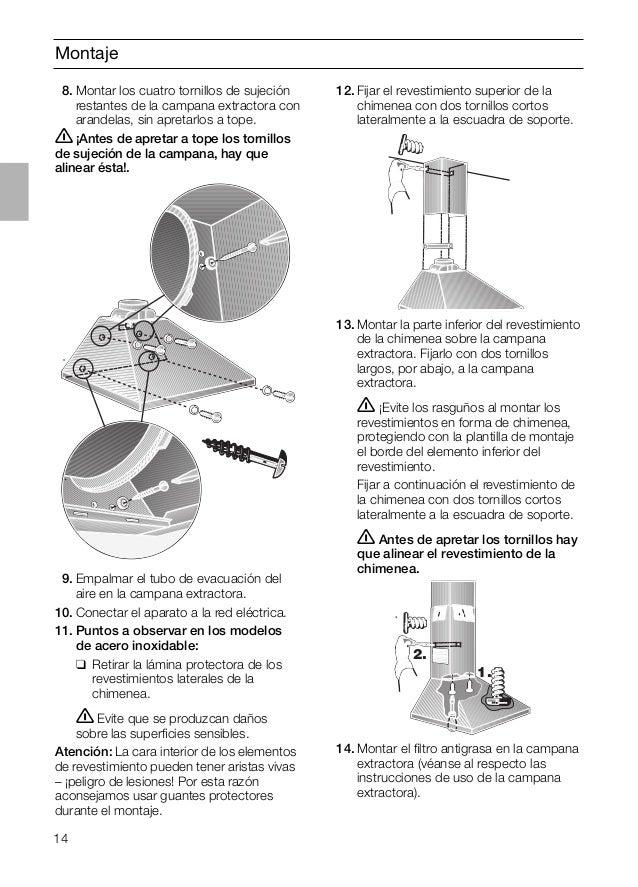 Manual balay campana 3 bc764b - Como instalar una campana extractora ...