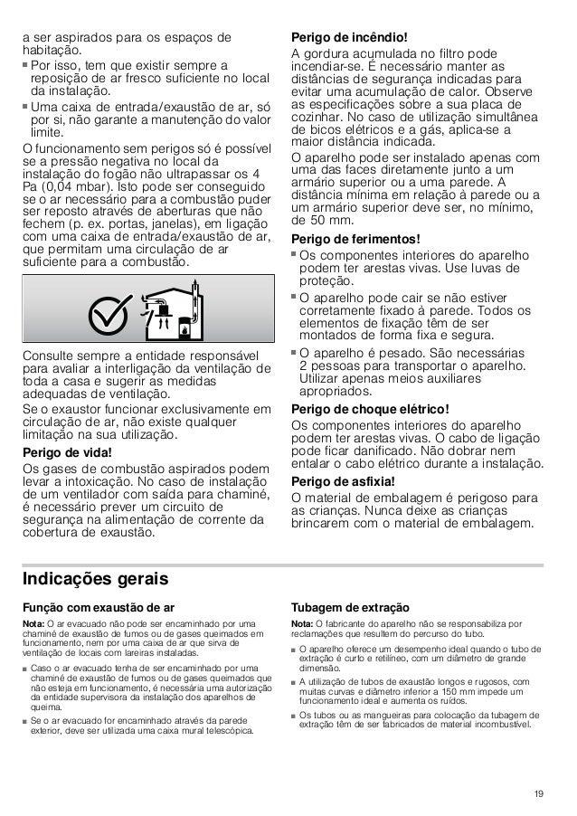 17 Substituição de lâmpadas : Perigo de choque elétrico! Ao substituir as lâmpadas, os contactos do casquilho da lâmpada e...