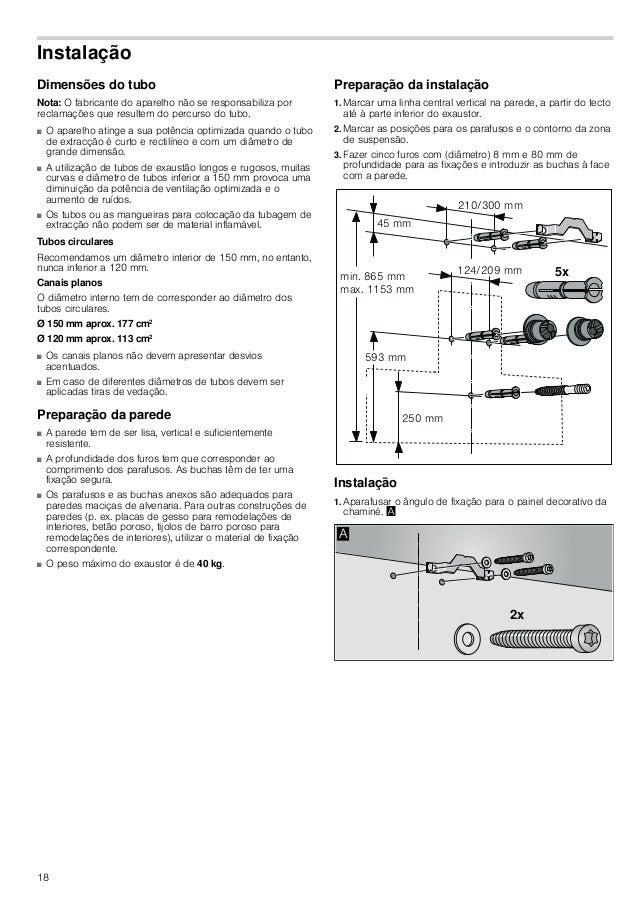 19 2. Aparafusar as suspensões para o exaustor com o máx. de 3 Nm. © 3. Aparafusar a cavilha roscada até ela ficar salient...