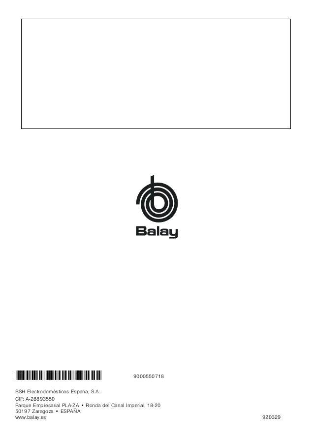Manual Balay - campana 3 bc8690