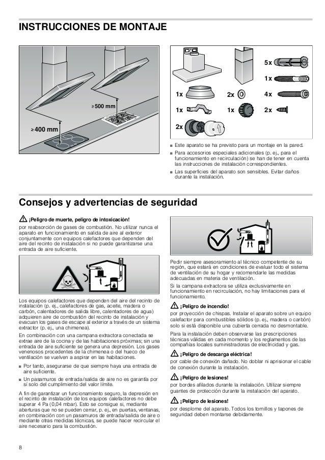 9 Instalación Dimensiones del conducto Nota: La garantía del fabricante del aparato no cubre las reclamaciones que se atri...
