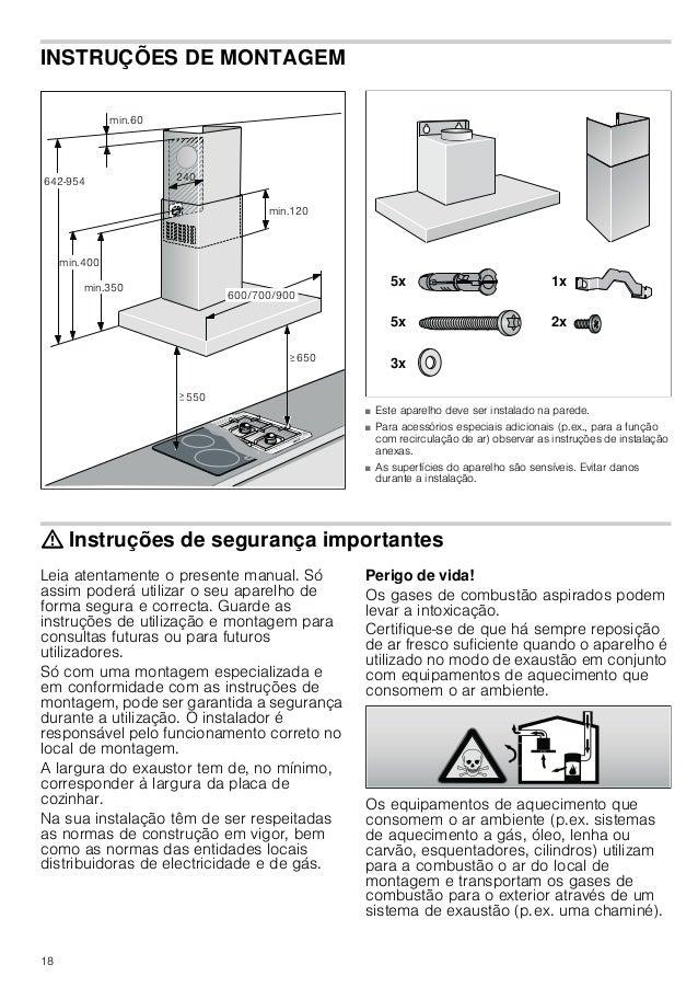16 Limpeza dos filtros metálicos de gorduras : Perigo de incêndio! A gordura acumulada no filtro pode incendiar-se. Limpar...