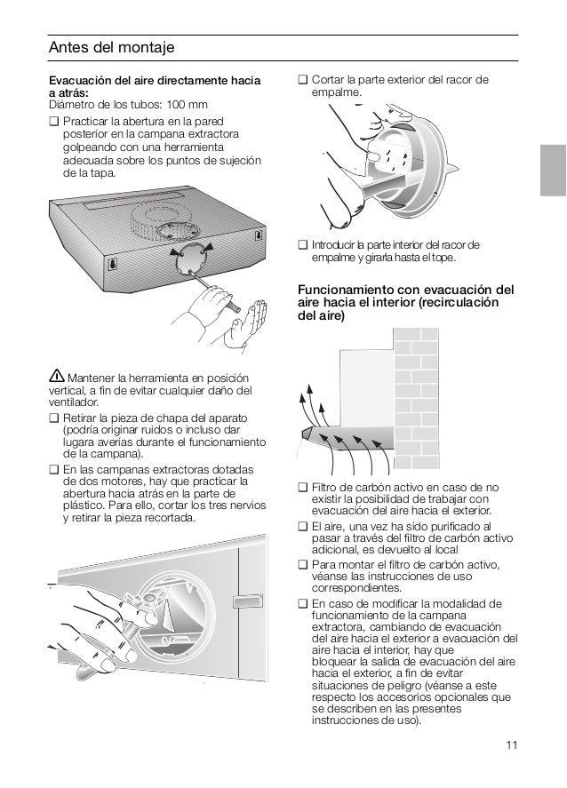 Manual balay campana 3 bh729x - Campana extractora medidas ...