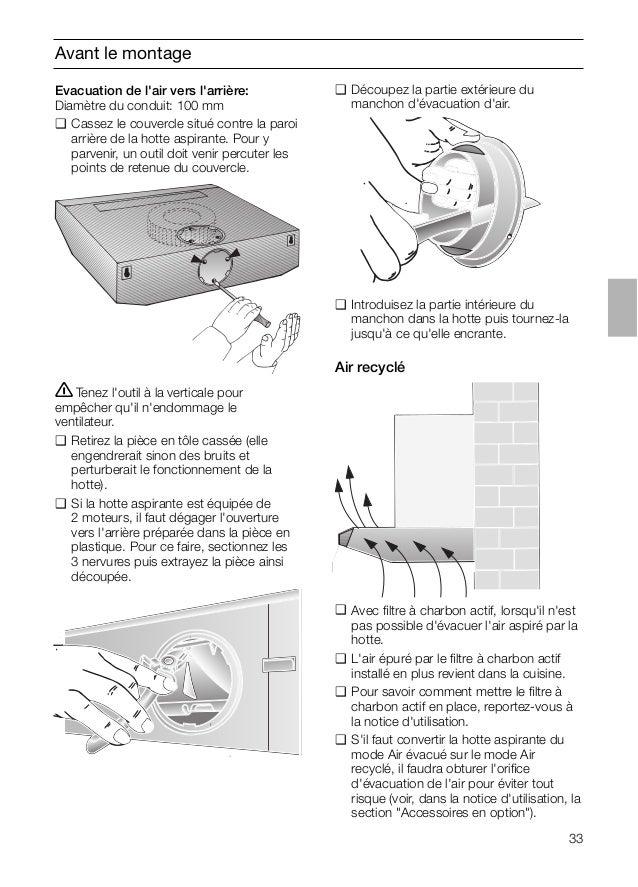 33 Avant le montage ṇTenez l'outil à la verticale pour empêcher qu'il n'endommage le ventilateur. ❑ Retirez la pièce en tô...