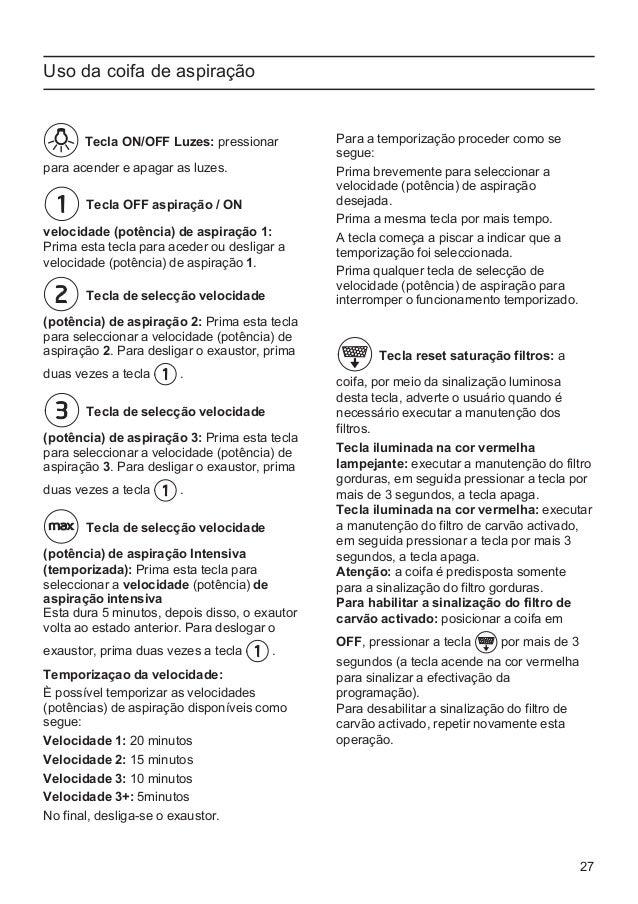 Manual Balay - campana 3 bi798