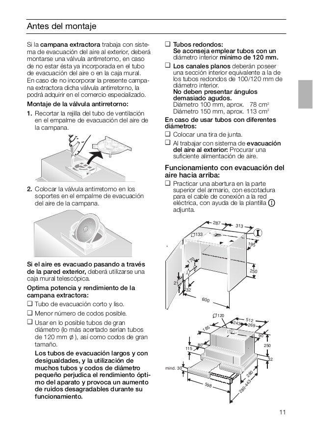 11 Antes del montaje Si el aire es evacuado pasando a través de la pared exterior, deberá utilizarse una caja mural telesc...