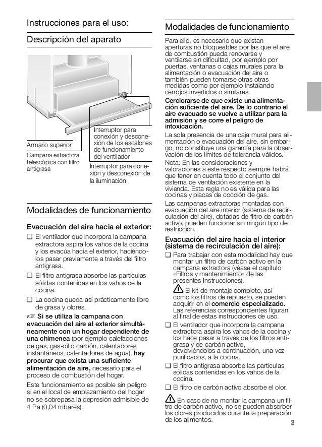 Descripción del aparato Modalidades de funcionamiento Evacuación del aire hacia el exterior: ❑ El ventilador que incorpora...