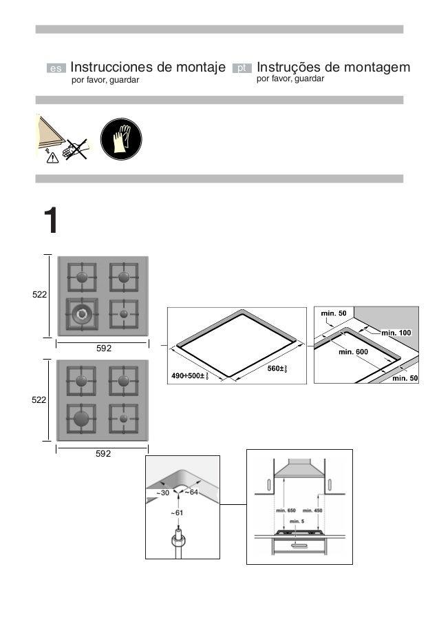por favor, guardar por favor, guardar Instrucciones de montaje 522 592 522 592 ~30 ~64 ~61 Instruções de montagemes pt 1
