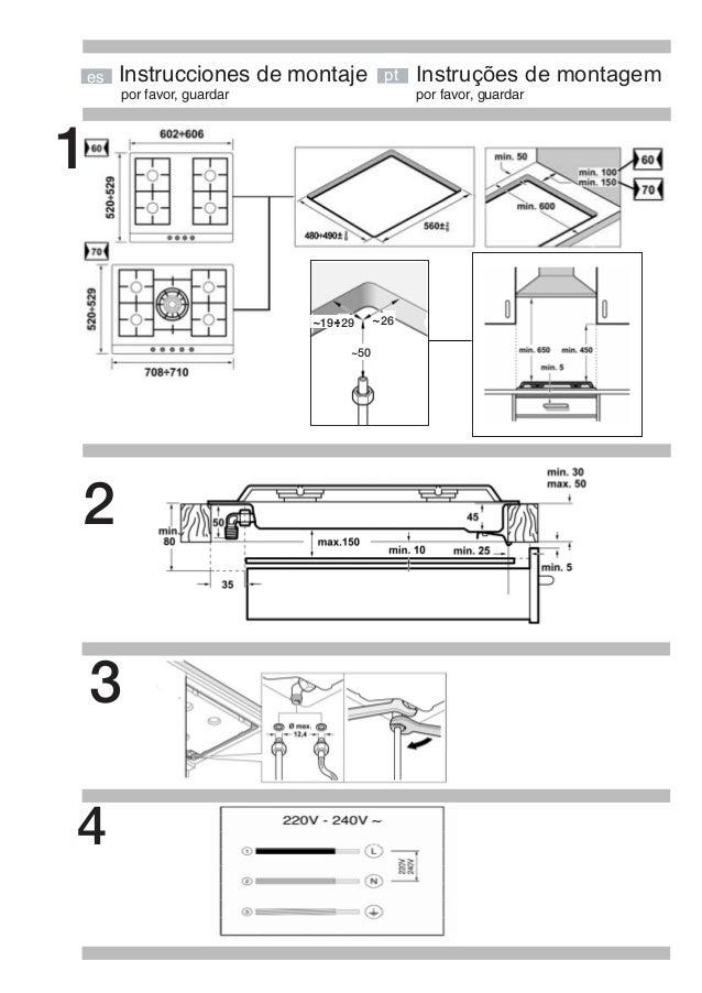 por favor, guardar por favor, guardar Instrucciones de montaje 1 Instruções de montagemptes 2 ~ .-. 2919 ~26 ~50 3 4