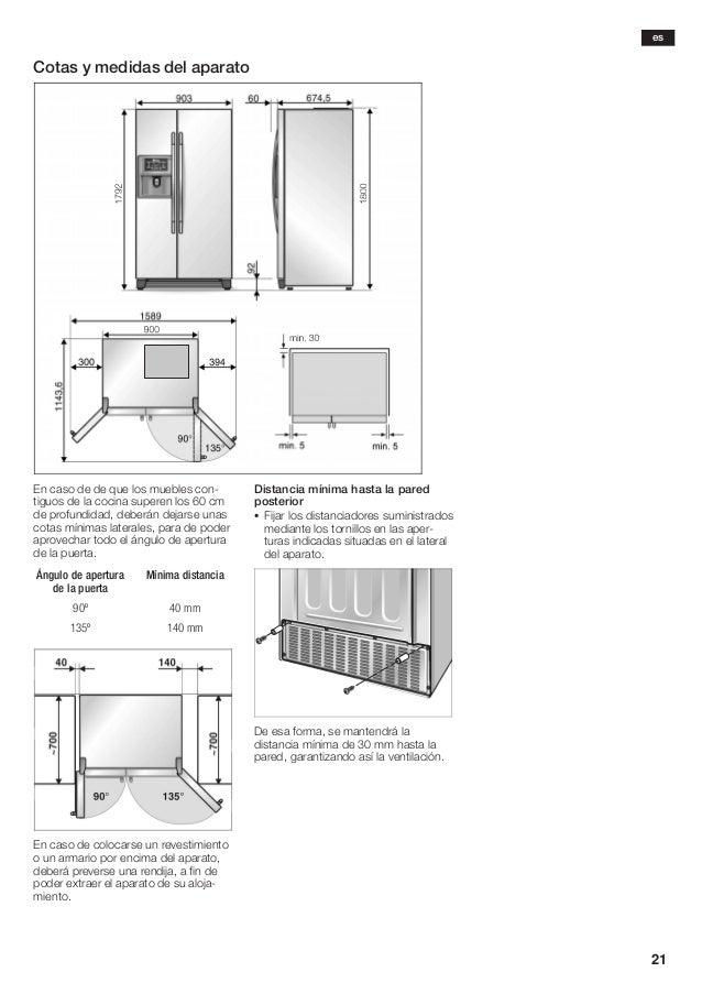 Manual balay frigorifico americano 3 fa7787a - Dimensiones de una nevera ...