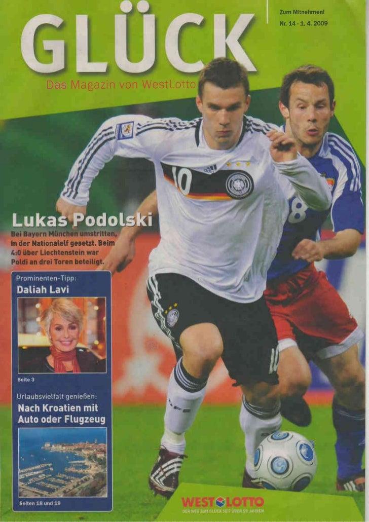 Zum Mitnehmen!                                       Nr. 14  1. 4. 2009           DasMagazin Westlotto                    ...