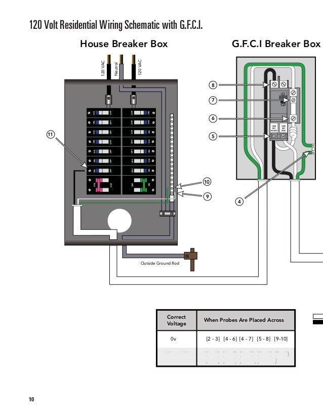 9; 10. 120 Volt Residential Wiring Schematic with G.F.C.I. ...