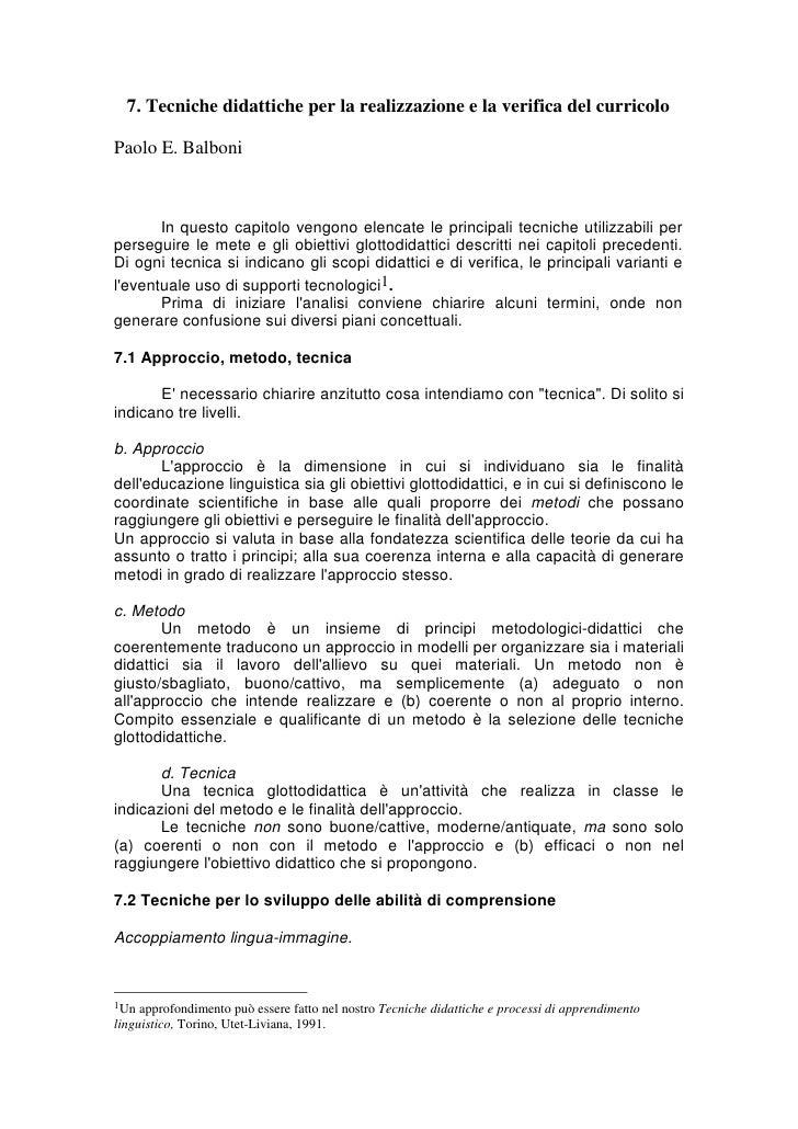 Balboni approccio, metodo, tecnica1