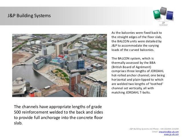 Balcon™ Balcony Connection Systems used at Media City UK ...