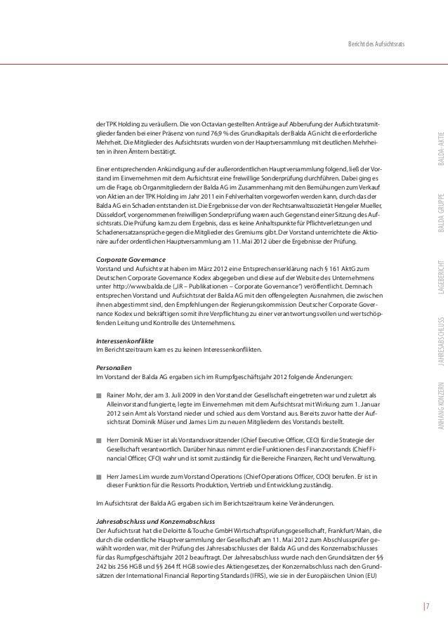 Bericht des Aufsichtsratsder TPK Holding zu veräußern. Die von Octavian gestellten Anträge auf Abberufung der Aufsichtsrat...