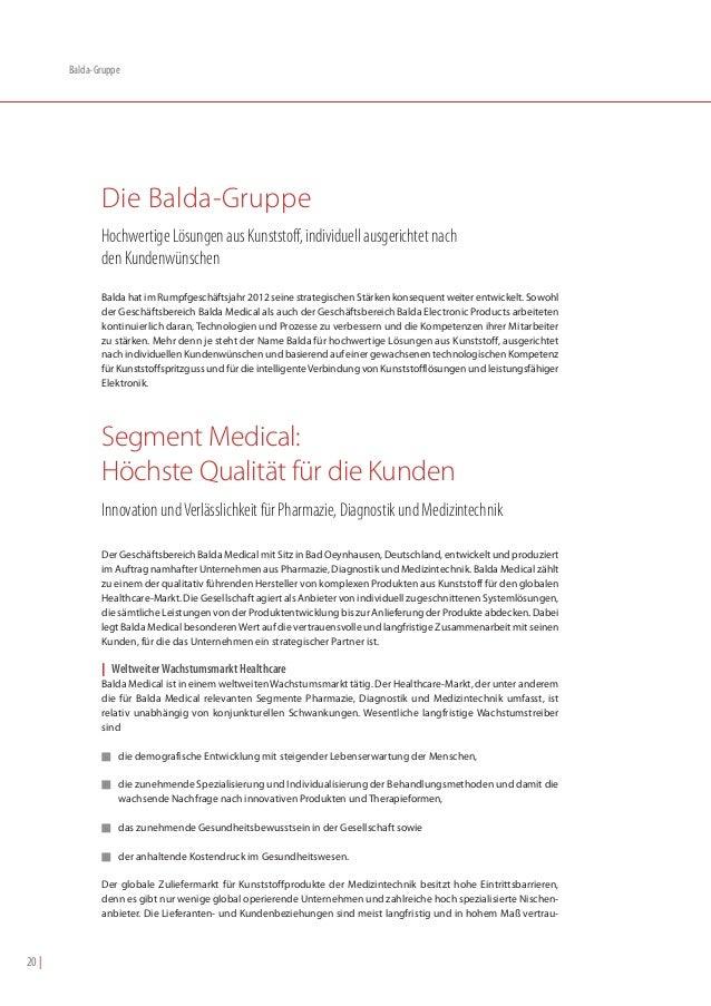 Balda-Gruppe              Die Balda-Gruppe              Hochwertige Lösungen aus Kunststoff, individuell ausgerichtet nach...