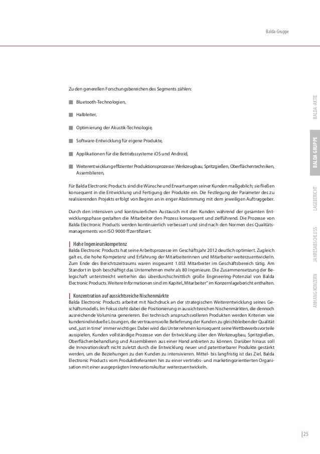 Balda-GruppeZu den generellen Forschungsbereichen des Segments zählen:                                                    ...
