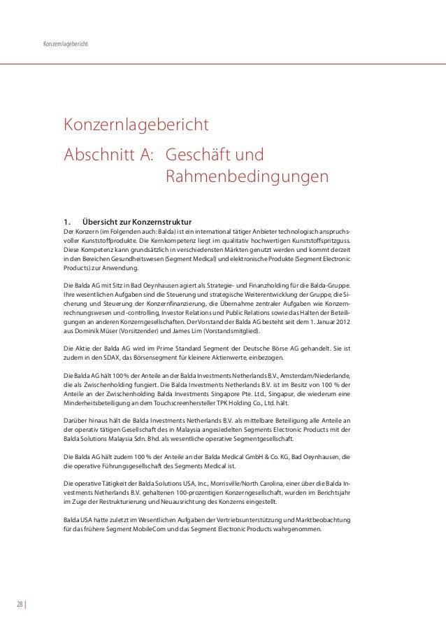 Konzernlagebericht               Konzernlagebericht               Abschnitt A: Geschäft und                            Rah...