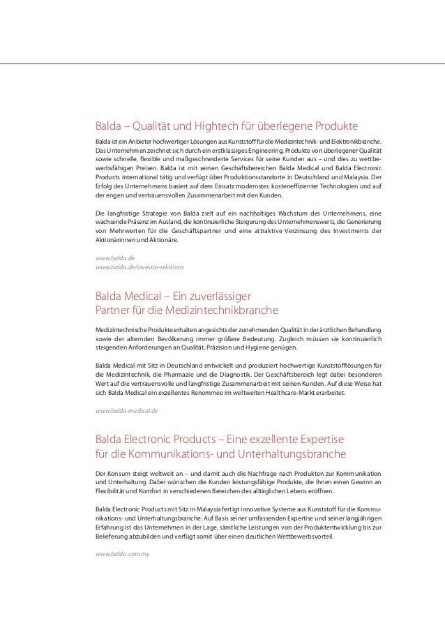 Balda – Qualität und Hightech für überlegene ProdukteBalda ist ein Anbieter hochwertiger Lösungen aus Kunststoff für die M...